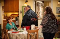 """Swoosie Kurtz, Melissa McCarthy, and Billy Gardell in Mike & Molly from """"Molly i..."""