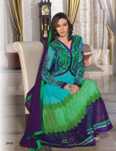 Designer Indian suit at http://www.khushrang.com