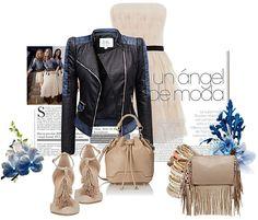 Stylizacja kurtka damska ramoneska skóra jeans bufki na wiosnę i lato najmodniejsza model #102 w sklepie fashionavenue.pl