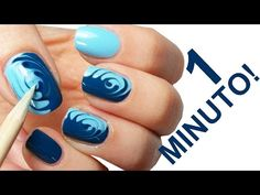 NAIL ART - TUTORIAL - PITTURA - UNGHIE - YouTube