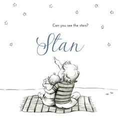 Personalised Family Print, Baby Boy, Presents, Letters, Stars, Black, Sweet Home, Save The Date Cards, Seeds