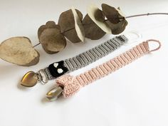 Posts about Mine hækleopskrifter on Stine. Crochet Pacifier Clip, Crochet Baby Toys, Crochet For Kids, Diy Crochet, Crochet Children, November Baby, Dummy Clips, Crochet Books, Baby Crafts