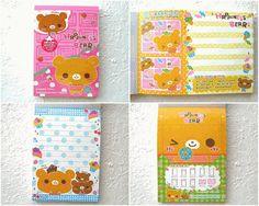 Kawaii Cute Japanese Memo Pad - Happiness Bears By Crux
