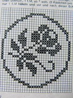 Crochet Edging Patterns, Filet Crochet Charts, Patchwork Quilt Patterns, Christmas Crochet Patterns, Crochet Diagram, Crochet Stitches, Knitting Patterns, Cross Stitch Fruit, Cross Stitch Bird