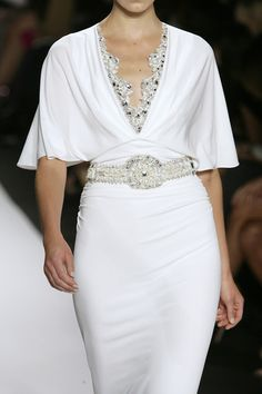 tinaschoices: Badgley Mischka at New York Fashion Week Spring 2010 New Yorker Street Style, Diana Fashion, Contemporary Fashion, Badgley Mischka, White Fashion, Satin Dresses, Playing Dress Up, New York Fashion, Evening Gowns