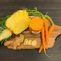 Jus d'ananas: je les ai pris comme ça, et en une semaine mon corps s'est transformé Nutrition, Smoothies, Detox, Carrots, Vegetables, Fruit, Fitness, Food, Sport