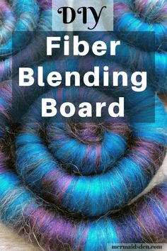 DIY Fiber Blending Board. Make your own blending board for rolags and roving to spin! This is a frugal DIY project that costs a fraction of a store-bought blending board. #handspun #artyarn #fiberart #yarn #yarnlove