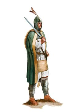 Standard bearer of Roman Imperial Excubitores Guards 8th 9th centuries AD