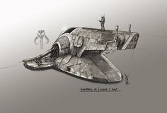 """Firespray - 31 """"SLAVE 1"""" fanart, Shane Molina on ArtStation at https://www.artstation.com/artwork/firespray-31-slave-1-fanart"""