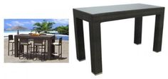 "Amalfi 6 Seat Outdoor Bar Table (Espresso) (40""H x 72""W x 40""D) by Premier Outdoor Furniture. $1050.00. Each Piece Sold Separately. This item ships common carrier.. Size: 40""H x 72""W x 40""D. Resin Wicker Saturated with Color. Color: Espresso. Enjoy meals outdoors with the Amalfi 6 Seat Outdoor Bar Table! These outdoor table and stools look just like those seen in tropical resorts, now available for your backyard. The outdoor pub table is designed to suit your entert..."