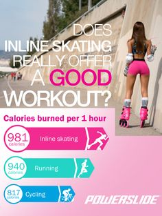 Did you know? Many studies point to inline skating as the Nº1 calorie burning activity. #skating #skates #powerslide #welovetoskate #fitness #workout #shape #fit #calories