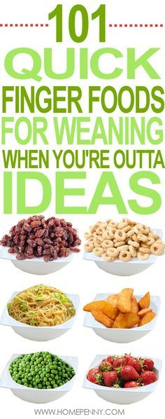 101 finger foods for weaning baby, when you'll all out of ideas. Home Penny