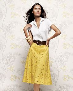 Want It!  Zahara Top & Dylan Skirt by Lafayette 148 New York at Neiman Marcus.
