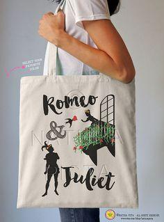 Romeo and Juliet tote bag-Verona Italy bag-love by naturapicta