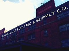 The epic showroom and factory for Schoolhouse Electric and Supply in Portland, OR. Complete this design pilgrimage with a stop at their Design Library and a hot cup of lovely at the Ristretto Roasters (both on site). http://www.schoolhouseelectric.com/