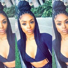 #repost #inspiration Love Those Gorgeous Box BraidsHow about U, divas???#rp #instagood #boxbraids #braids #hairstyle #summerhair #boldhair #divaswigs #cute #stunner #beauty