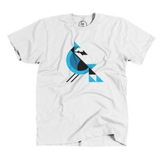 """Cyanocitta cristata"" designed by Ben Stafford. The Blue Jay is noisy, bold and…"