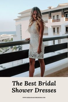 The Best Little White Cocktail Dresses for Your Bachelorette Party and Bridal Shower | Miranda Schroeder Blog  www.mirandaschroeder.com