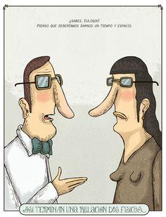 Así terminan una relación dos físicos (por @albertomontt)
