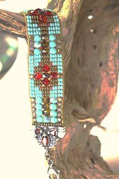 Bracelets – Page 2 – Modern Jewelry Bead Loom Patterns, Bracelet Patterns, Beading Patterns, Stitch Patterns, Bead Loom Bracelets, Woven Bracelets, Jewelry Bracelets, Seed Bead Jewelry, Beaded Jewelry