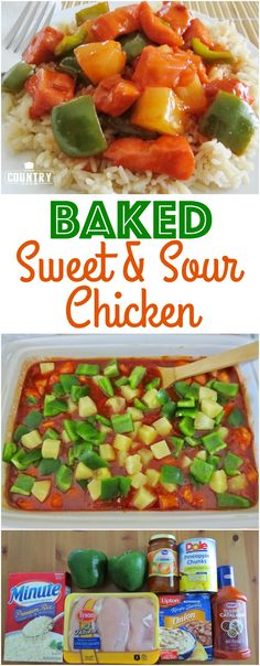 Baked Sweet & Sour Chicken (also called Apricot Chicken) recipe from The Country Cook. No breading and it cooks all in one pan. Preps in minutes!