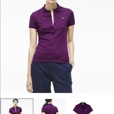 WOMEN'S PIQUÉ CLASSIC FIT POLO Our iconic polo style made from classic cotton piqué is perfect for everyday- wear it with dark-rinse denim or skinny black trousers. Lacoste Tops Tees - Short Sleeve