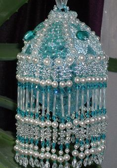 Lovely Christmas ornament cover. Ornament is included.