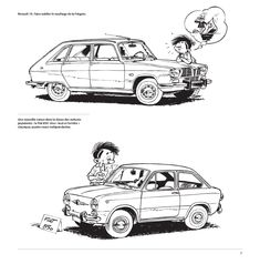 Peugeot 504, French Cartoons, Microcar, Vintage Drawing, Car Illustration, Car Drawings, Illustrations And Posters, Character Concept, Fiat