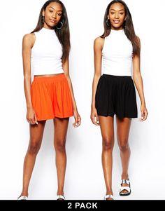 ASOS   ASOS 2 Pack Culotte Shorts at ASOS