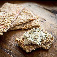 Raw, vegan, gluten free Bruschetta Crackers