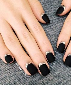 Image result for black nail designs