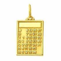 Pingente Calendario Em Ouro 1 Com Brilhante K,s