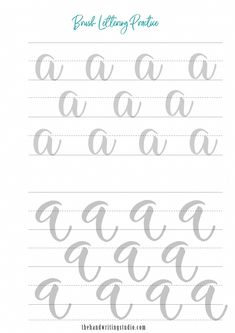 Lettering Worksheets, modern calligraphy Worksheets, Brush Calligraphy Printable Brush calligraphy and hand lettering worksheetsPrintable Printable (noun: printability) usually refers to something suitable for printing: Brush Lettering Worksheet, Calligraphy Worksheet, Lettering Guide, Calligraphy Tutorial, Hand Lettering Practice, Hand Lettering Tutorial, Cursive Alphabet, Hand Lettering Alphabet, Learn Handwriting