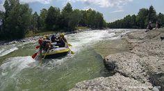Rafting auf der Isar (Oberbayern) Strecke: Lenggries bis Bad Tölz  #Rafting #Isar #EchtEinladend