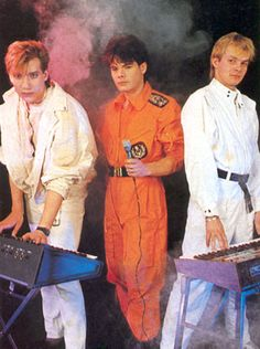 Big in Japan! Alphaville. You always needed a smoke machine to enhance the synthesizers when posing.