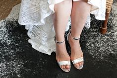 A pair of @ninewestfashion shoes and Lover the Label dress for the bride of this Hidden Valley Wedding
