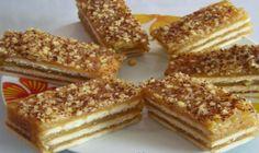 Chutný nepečený jablkový koláč s vanilkovým pudingom a orechmi - MegaRecepty.sk