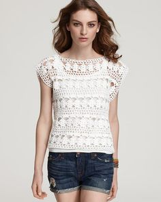Crocheted top  blouse lace made to order crochet by dosiak on Etsy, $45.00