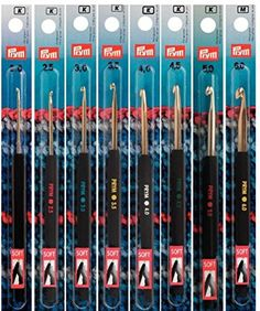 PRYM/INOX 195173 Crochet hook for wool; gauge / length 14 cm, 1 piece - I Crochet World Double Knitting, Loom Knitting, Crochet Hooks, Knit Crochet, Loom Patterns, Wool, Image Link, Handle, Plastic