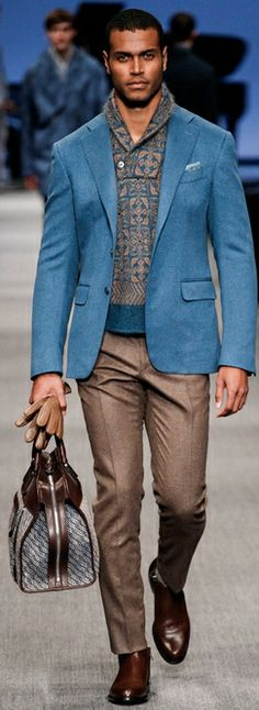 Canali Fall 2014.  What a flawless combination of blue and browns!  Love it!
