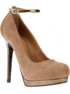 Amazing Suede Upper Camel Color Closed Toe Women Shoes