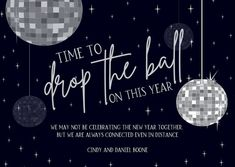 Time To Drop The Ball New Year Cards