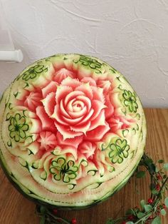Food Art - carved from a watermelon