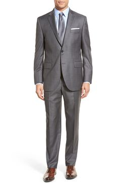 Main Image - Peter Millar Classic Fit Solid Wool Suit