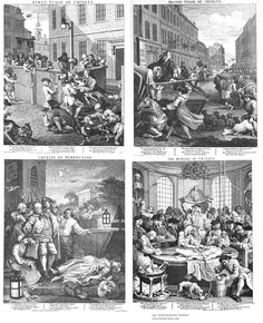 Michael Finney Antique Prints - William Hogarth - The Four Stages of Cruelty.