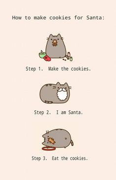 Cookie cat. Merry Christmas! jh