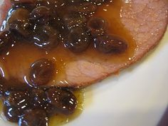 ****Raisin Sauce Recipe for Ham - We tried this for Christmas dinner with the ham today. It's pretty good.