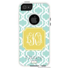 Monogrammed OtterBox iPhone Case by Lipstick Shades - Chain - Select your Colors! ($69.95)