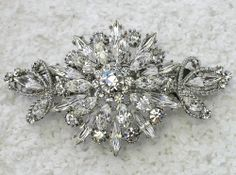 Gorgeous clear floral hair barrette for Bridal by AnhsJewelry, $26.40