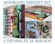 Personalized Hardboard Nursery Art (A Tutorial) | Lil Blue Boo